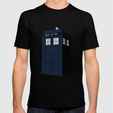 Dr Who - The Doctor's Tardis - Police Phone Box 2X-LARGE Mens Fitted Tee Black