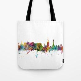 Edinburgh Scotland Skyline Cityscape Tote Bag