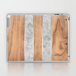 Wood Grain Stripes - Concrete #347 Laptop & iPad Skin