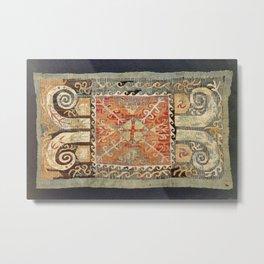 Kaitag 18th Century Caucasian Embroidery Print Metal Print