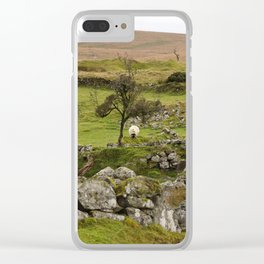 Sheep Amidst English Ruins Clear iPhone Case