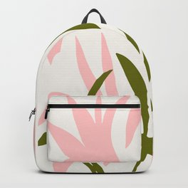 Floral Print, Flower Meadow, Large Giclee Print from Painting, Wall Art, Abstract Meadow Print, pink Backpack