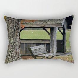 Autumn Covered Bridge 2 Rectangular Pillow