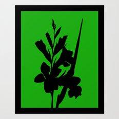 Gladiolus in Cyclamen Pink - Original Floral Botanical Papercut Design Art Print