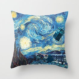 Vincent and The Doctor - Bosphorus Throw Pillow