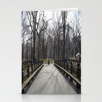 central park Stationery Cards featuring Central Park by Joanna Dickinson