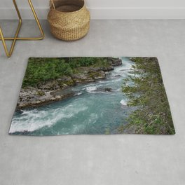 Alaska River Canyon - II Rug