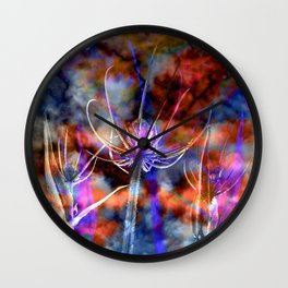 Floral Cloud Spectacle Wall Clock