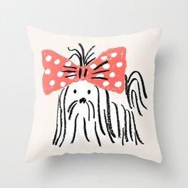fifi - puppy Throw Pillow