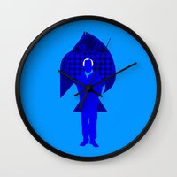 karl Wall Clocks featuring Karl Stromberg by Vector Vectoria