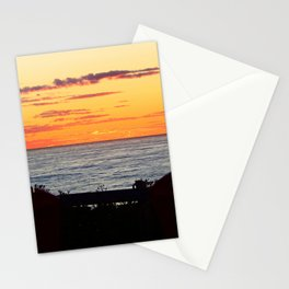 Sunset and the chairs Stationery Cards
