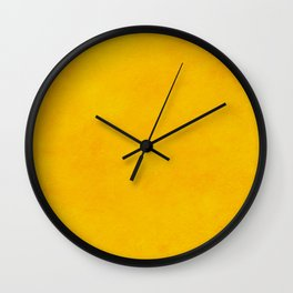 yellow curry mustard color trend plain texture Wall Clock
