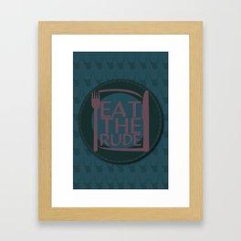 Eat The Rude (Navy) Framed Art Print