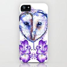 Owl and Irises Slim Case iPhone (5, 5s)