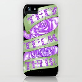 They/Them/Their iPhone Case