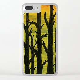 Sunset Forest Clear iPhone Case