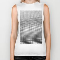 gray pattern Biker Tanks featuring Gray Pattern by theGalary