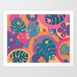 Tropical Dots Art Print