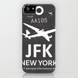 JFK Airport code New York USA iPhone Case