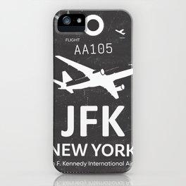 JFK Airport code New York USA iPhone Case