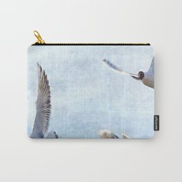 Three Seagulls Watercolor Carry-All Pouch