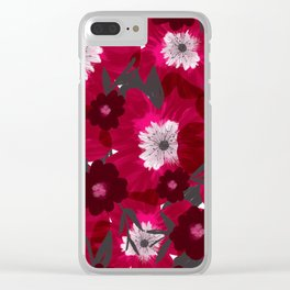 Flowers Overflowing Clear iPhone Case