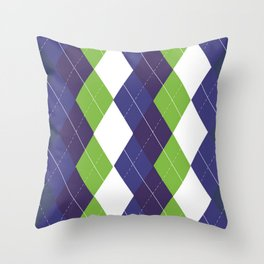 Seattle Argyle Throw Pillow