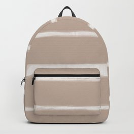 Skinny Strokes Gapped Horizontal Off White on Nude Backpack