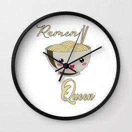 Ramen Queen Japanese Noodles Vintage Retro Style Wall Clock