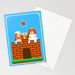 Mario & Peach castle Stationery Cards