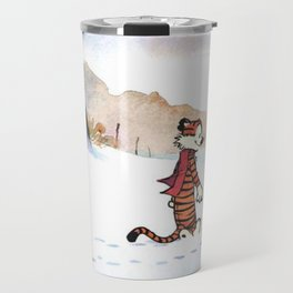calvin hobbes snow Travel Mug