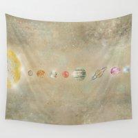 solar system Wall Tapestries featuring Solar system by bri.buckley