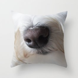 Sweet Little Sniffer Throw Pillow