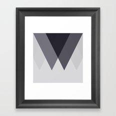 Sawtooth Blue Grey Framed Art Print