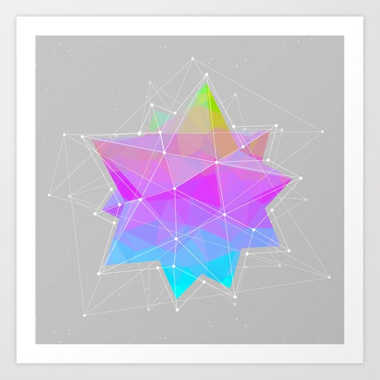 The Dots Will Somehow Connect (Geometric Star) Art Print