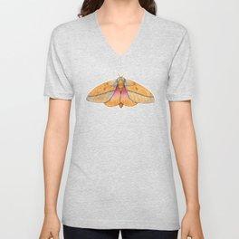 Bisected Honey Locust Moth (Sphingicampa bisecta) Unisex V-Neck