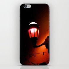 Red Streetlight iPhone Skin