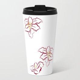 Poinsettia - white Travel Mug