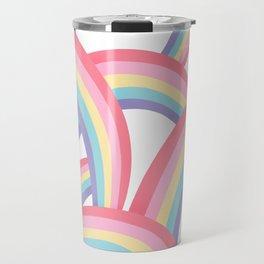 Rainbow abstract pattern Travel Mug