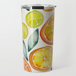 Sliced Citrus Watercolor Travel Mug