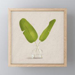 Banana Leaves Framed Mini Art Print