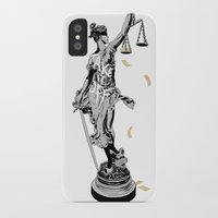 justice iPhone & iPod Cases featuring Justice by Kris Miklos
