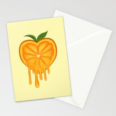 Love Orange Stationery Cards