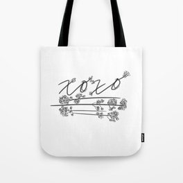 XOXO with Baby's Breath Tote Bag