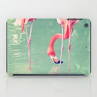 flamingos iPad Cases featuring Flamingos  by Laura Ruth