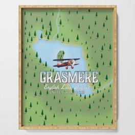 Grasmere English Lake District vintage map Serving Tray