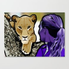 The Lesbian & the Lioness Canvas Print