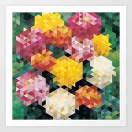 Chrysanthemums 2 Art Print