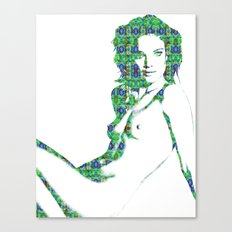 Nude: Natalia Vodianova Fashion Canvas Print