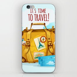 Travel Concept With Suitcase iPhone Skin